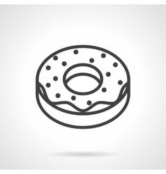 Donut simple line icon vector