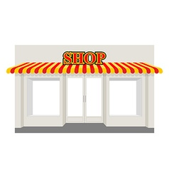 Store showcase facade of shop building storefront vector
