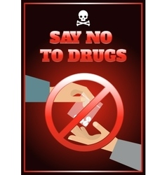 Flat drugs poster vector