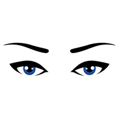 abstract blue eyes vector image