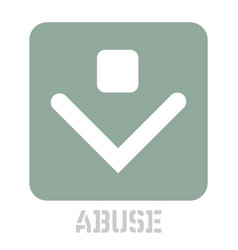 Abuse conceptual graphic icon vector