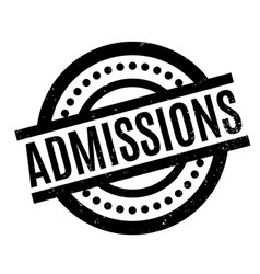 admissions rubber stamp vector image