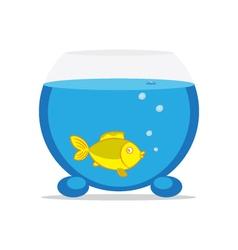 An aquarium with fish vector