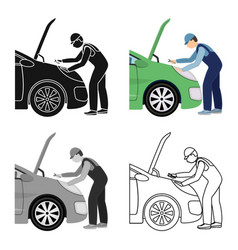 Auto mechanic and adjustment single icon in vector