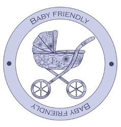 Baby friendly sticker vector image