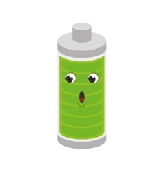 battery level character isolated icon vector image vector image