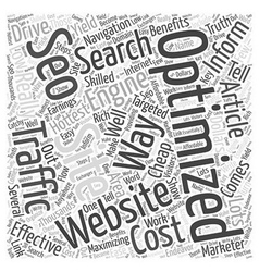 Bw low cost seo word cloud concept vector