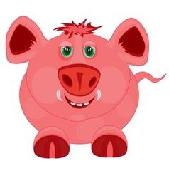 Cartoon to pigs vector image vector image