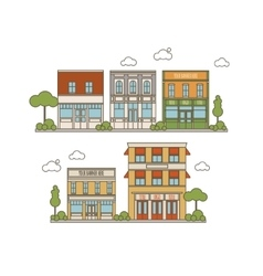 Collection Of Buildings vector image vector image