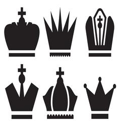 Crown set vector