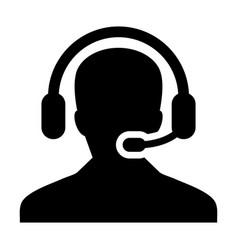 customer care service and support icon vector image