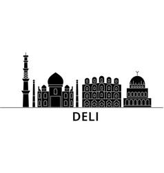 Deli architecture city skyline travel vector