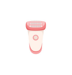 Electric epilator unwanted hair removal procedure vector