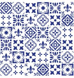 geometric tile design portuguese or spnish vector image