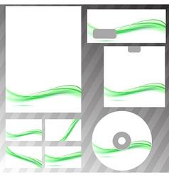 Green swoosh line concept corporate template vector