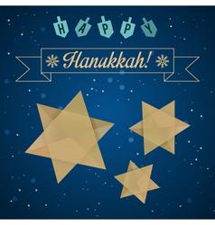 hanukkah star2 vector image