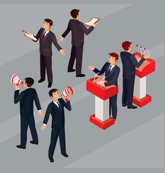 isometric people businessman vector image