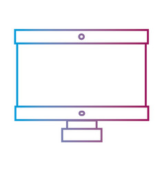 line computer technology with electronic vector image vector image
