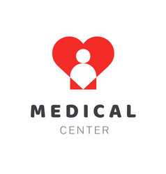 Medical diagnostic center or clinic logo design vector