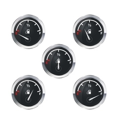 Modern fuel indicators isolated on white vector