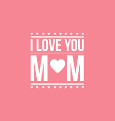 Mother day card style collection vector