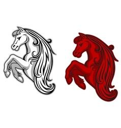 Mustang mascot vector image