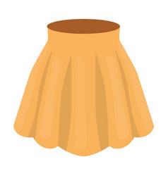 orange women s light summer skirt with pleats vector image