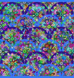 Pattern with circle kaleidoscope details vector