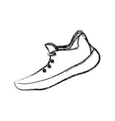 running shoe footwear vector image