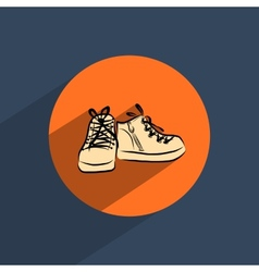 Shoes flat doodle icon vector image