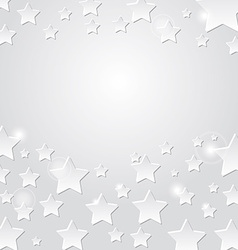 Star on a gray background abstract light vector image
