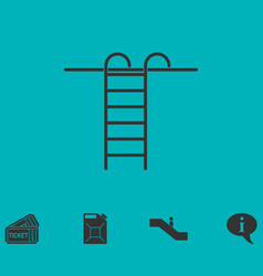 Step ladder icon flat vector