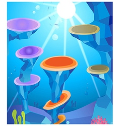 Sunlight and under water vector image vector image