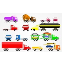 Trucks set vector