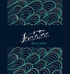 Vertical card invitation and welcome lettering vector