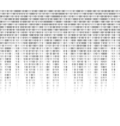 Virtual computer binary code abstract background vector