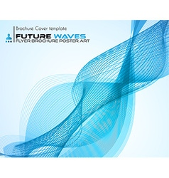 waves background for brochures and flyers design vector image vector image