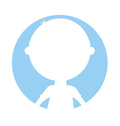 young boy silhouette avatar character vector image