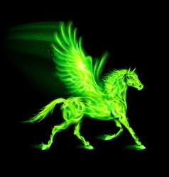Fair Pegas Horse Run Green 01 vector image