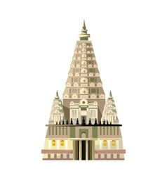 Mahabodhi temple icon isolated on white background vector