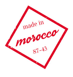 Made in morocco rubber stamp vector