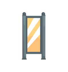 Blank white vertical light box advertising vector