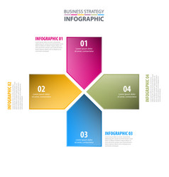 Business infographics design template vector