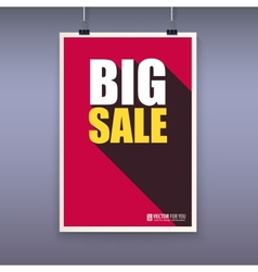 Vintage poster big sale vector