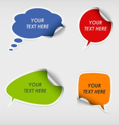 Colorful stickers dialog bubble template vector