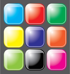 Glossy Botton vector image