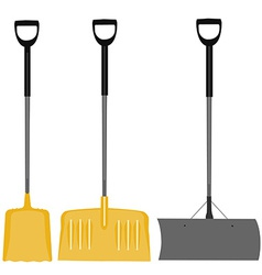 Snow shovel set vector