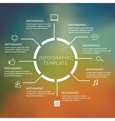Modern infographics circle with blur background vector