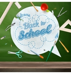 Back to school concept still life eps 10 vector