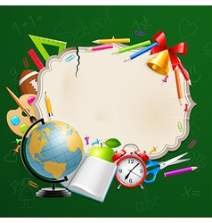 back to school greeting card vector image
